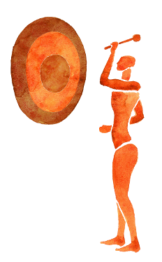 Figure With Gong